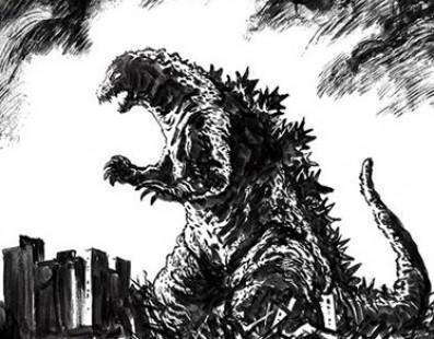 Godzilla croqué par Naoki Urasawa pour son reboot